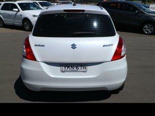 2013 Suzuki Swift FZ GL White 5 Speed Manual Hatchback.