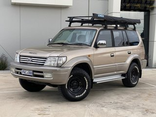 2002 Toyota Landcruiser Prado VZJ95R VX Beige 4 Speed Automatic Wagon.