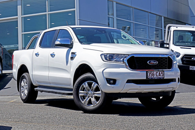 Used Ford Ranger PX MkIII 2021.25MY XLT Hi-Rider Springwood, 2021 Ford Ranger PX MkIII 2021.25MY XLT Hi-Rider White 6 Speed Sports Automatic Double Cab Pick Up