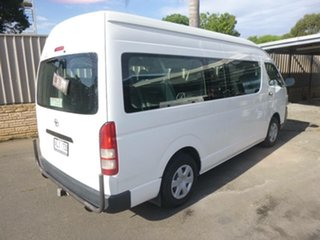 2006 Toyota HiAce KDH223R Commuter High Roof Super LWB White 5 Speed Manual Bus.
