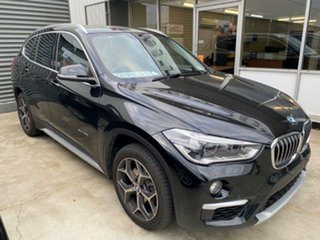 2016 BMW X1 F48 sDrive18d Steptronic Black 8 Speed Sports Automatic Wagon
