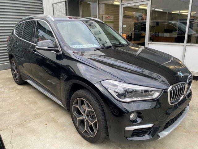 Used BMW X1 F48 sDrive18d Steptronic Gladstone, 2016 BMW X1 F48 sDrive18d Steptronic Black 8 Speed Sports Automatic Wagon