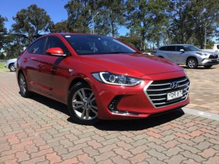 2015 Hyundai Elantra MD3 Active Red 6 Speed Sports Automatic Sedan.