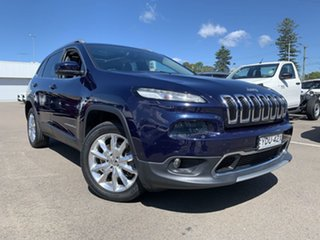 2014 Jeep Cherokee KL Limited Blue 9 Speed Sports Automatic Wagon.