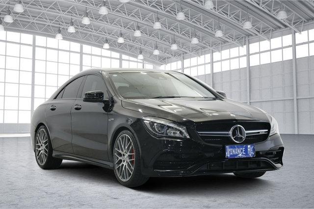 Used Mercedes-Benz CLA-Class C117 806MY CLA45 AMG SPEEDSHIFT DCT 4MATIC Victoria Park, 2016 Mercedes-Benz CLA-Class C117 806MY CLA45 AMG SPEEDSHIFT DCT 4MATIC Black 7 Speed