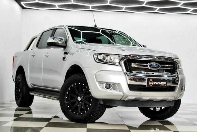 Used Ford Ranger PX MkII MY18 XLT 3.2 Hi-Rider (4x2) Burleigh Heads, 2017 Ford Ranger PX MkII MY18 XLT 3.2 Hi-Rider (4x2) Silver 6 Speed Automatic Crew Cab Pickup