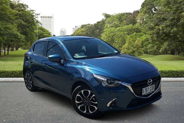 Used Mazda 2 DJ2HA6 Genki SKYACTIV-MT Paradise, 2018 Mazda 2 DJ2HA6 Genki SKYACTIV-MT Blue 6 Speed Manual Hatchback