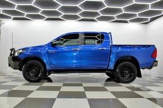 2016 Toyota Hilux GUN126R SR (4x4) Blue 6 Speed Automatic Dual Cab Utility