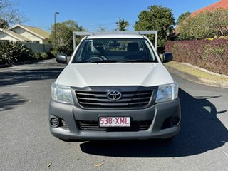 2013 Toyota Hilux TGN16R Workmate White 4 Speed Automatic Single Cab.