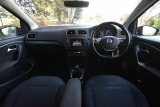 2015 Volkswagen Polo 6R MY15 81TSI Comfortline Red 6 Speed Manual Hatchback