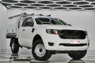 2018 Ford Ranger PX MkIII MY19 XL 2.2 Hi-Rider (4x2) White 6 Speed Automatic Super Cab Chassis.