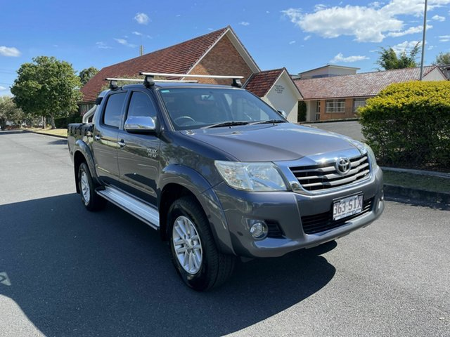 Used Toyota Hilux GGN25R SR5 Chermside, 2012 Toyota Hilux GGN25R SR5 Grey 5 Speed Manual Dual Cab