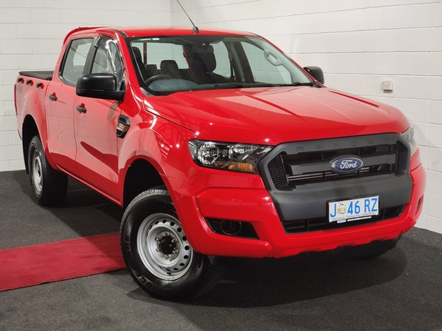 Used Ford Ranger PX MkII 2018.00MY XL Glenorchy, 2018 Ford Ranger PX MkII 2018.00MY XL Red 6 Speed Sports Automatic Utility
