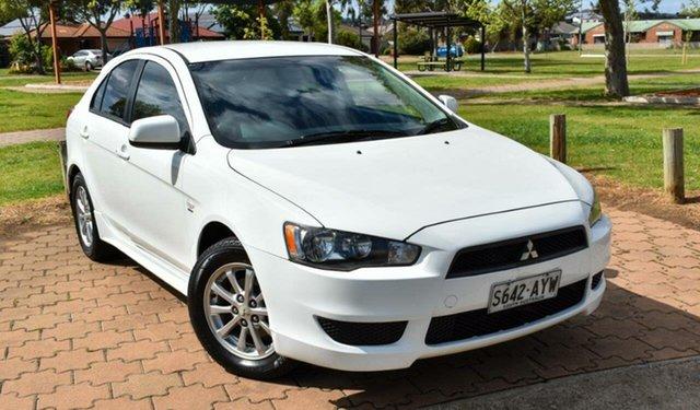 Used Mitsubishi Lancer CJ MY10 ES Ingle Farm, 2010 Mitsubishi Lancer CJ MY10 ES White 6 Speed Constant Variable Sedan