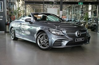 2019 Mercedes-Benz C-Class A205 809MY C200 9G-Tronic Grey 9 Speed Sports Automatic Cabriolet.