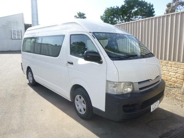 Used Toyota HiAce KDH223R Commuter High Roof Super LWB St Marys, 2006 Toyota HiAce KDH223R Commuter High Roof Super LWB White 5 Speed Manual Bus