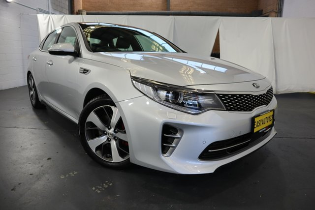 Used Kia Optima JF MY16 GT Castle Hill, 2016 Kia Optima JF MY16 GT Silver 6 Speed Sports Automatic Sedan