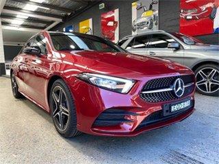 2021 Mercedes-Benz A-Class V177 A180 Red Sports Automatic Dual Clutch Sedan.