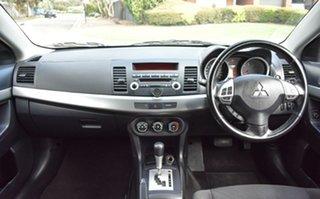 2010 Mitsubishi Lancer CJ MY10 ES White 6 Speed Constant Variable Sedan.