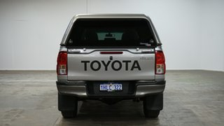 2018 Toyota Hilux GUN126R SR Double Cab Silver Sky 6 Speed Sports Automatic Cab Chassis