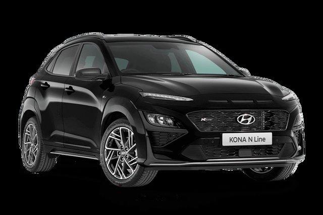 New Hyundai Kona N Line Premium Hamilton, 2021 Hyundai Kona OS.V4 N Line Premium Phantom Black 7 Speed Automatic SUV