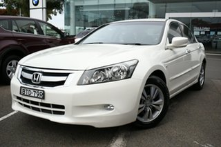 2010 Honda Accord 50 VTi White 5 Speed Automatic Sedan.