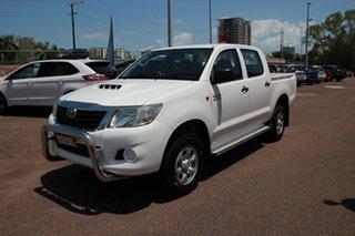 2012 Toyota Hilux KUN26R MY12 SR Double Cab Glacier White 4 Speed Automatic Utility.