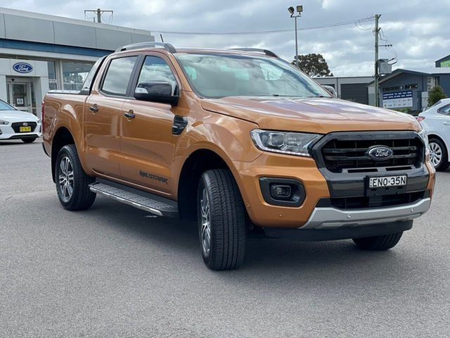 Used Ford Ranger Wildtrak Goulburn, 2021 Ford Ranger Wildtrak Saber Sports Automatic Double Cab Pick Up