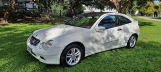 2003 Mercedes-Benz C180 SPORT White 6 Speed Manual Coupe.