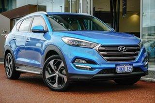 2016 Hyundai Tucson TLE Elite AWD Blue 6 Speed Sports Automatic Wagon.