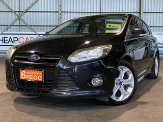 2013 Ford Focus LW MkII Sport PwrShift Black 6 Speed Sports Automatic Dual Clutch Hatchback.