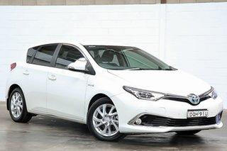 2017 Toyota Corolla ZWE186R Hybrid E-CVT White 1 Speed Constant Variable Hatchback Hybrid.