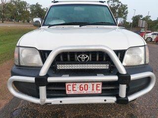 1997 Toyota Landcruiser Prado VZJ95R RV6 White 5 Speed Manual Wagon.