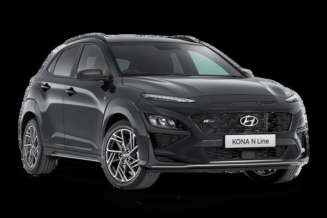 New Hyundai Kona N Line Premium Hamilton, 2021 Hyundai Kona OS.V4 N Line Premium Dark Knight 7 Speed Automatic SUV