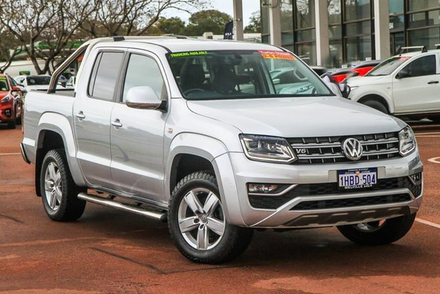 Used Volkswagen Amarok 2H MY17 TDI550 4MOTION Perm Highline Attadale, 2017 Volkswagen Amarok 2H MY17 TDI550 4MOTION Perm Highline Silver 8 Speed Automatic Utility