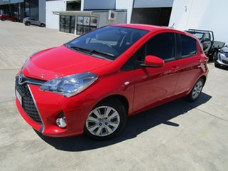 2014 Toyota Yaris NCP131R SX Red 4 Speed Automatic Hatchback.