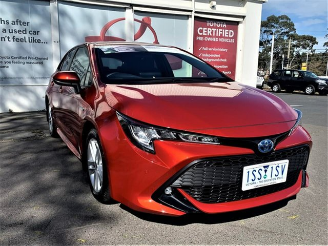 Pre-Owned Toyota Corolla ZWE211R SX E-CVT Hybrid Ferntree Gully, 2020 Toyota Corolla ZWE211R SX E-CVT Hybrid Volcanic Red 10 Speed Constant Variable Hatchback Hybrid