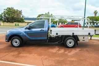 2015 Mazda BT-50 UR0YD1 XT 4x2 Blue 6 Speed Manual Cab Chassis.
