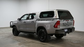 2018 Toyota Hilux GUN126R SR Double Cab Silver Sky 6 Speed Sports Automatic Cab Chassis.