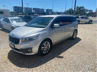 2016 Kia Carnival YP MY17 Platinum Silver 6 Speed Automatic Wagon.