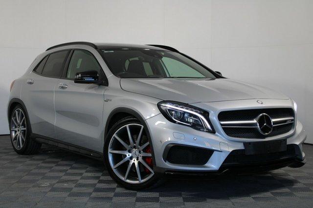 Used Mercedes-Benz GLA-Class X156 805+055MY GLA45 AMG SPEEDSHIFT DCT 4MATIC Wayville, 2015 Mercedes-Benz GLA-Class X156 805+055MY GLA45 AMG SPEEDSHIFT DCT 4MATIC Silver 7 Speed
