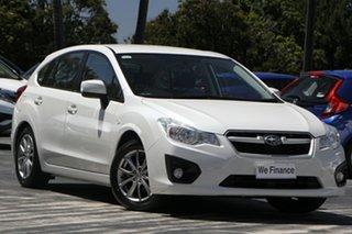 2014 Subaru Impreza G4 MY14 2.0i AWD White 6 Speed Manual Hatchback.