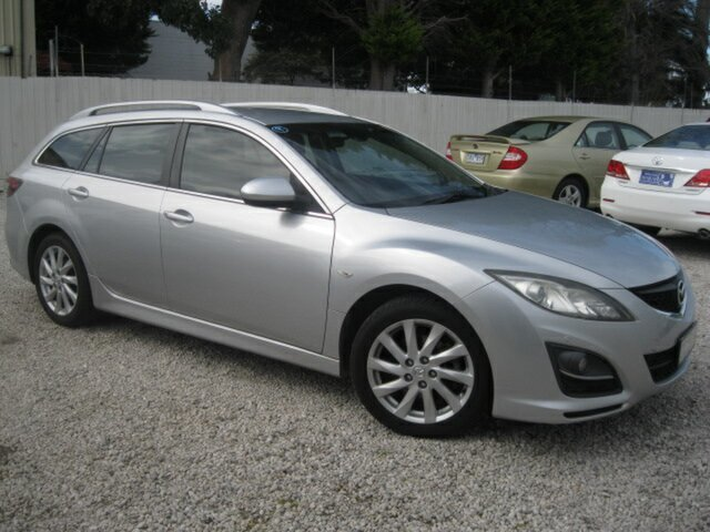 Used Mazda 6 GH1052 MY10 Touring Seaford, 2010 Mazda 6 GH1052 MY10 Touring Silver 5 Speed Sports Automatic Wagon
