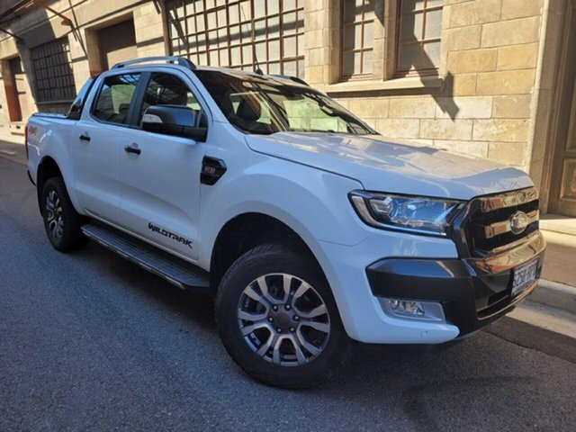 Used Ford Ranger PX MkII Wildtrak Double Cab Cheltenham, 2017 Ford Ranger PX MkII Wildtrak Double Cab White 6 Speed Sports Automatic Utility