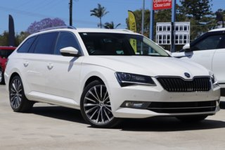 2018 Skoda Superb NP MY18.5 162TSI DSG White 6 Speed Sports Automatic Dual Clutch Wagon.