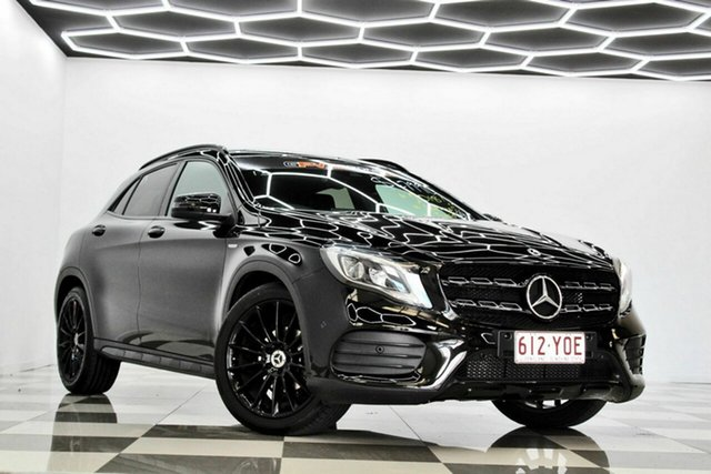 Used Mercedes-Benz GLA180 X156 MY19 Night Edition Burleigh Heads, 2018 Mercedes-Benz GLA180 X156 MY19 Night Edition Black 7 Speed Auto Dual Clutch Wagon