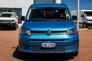 2021 Volkswagen Caddy SK MY21 TDI320 Maxi DSG Life Starlight Blue 7 Speed.