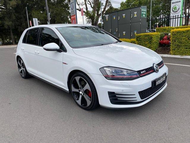 Used Volkswagen Golf VII MY16 GTI DSG Botany, 2015 Volkswagen Golf VII MY16 GTI DSG White 6 Speed Sports Automatic Dual Clutch Hatchback