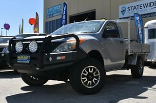 2012 Mazda BT-50 XT (4x4) Silver 6 Speed Manual Cab Chassis.