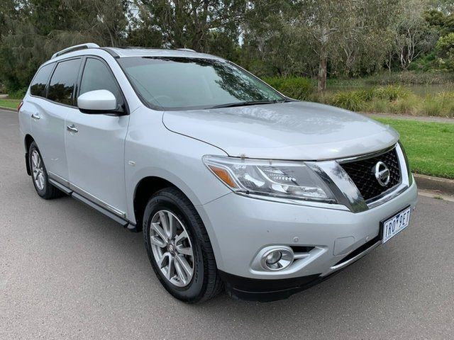 Used Nissan Pathfinder R52 ST-L Geelong, 2014 Nissan Pathfinder R52 ST-L Silver Constant Variable Wagon